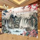 屏風隔斷時尚折屏酒店簡約中式客廳辦公現代 igo 全館免運