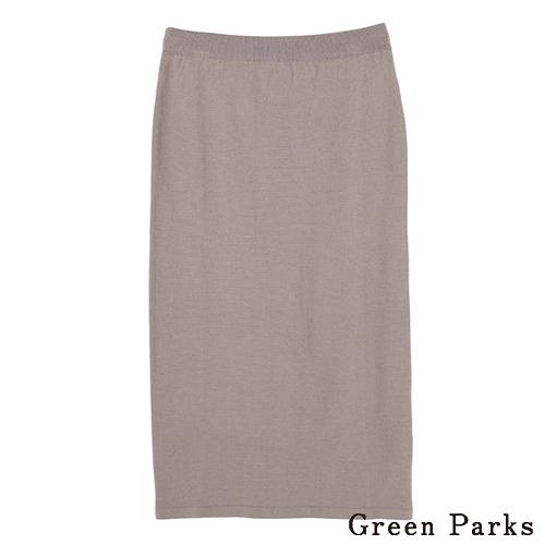 「Hot item」針織直筒修身長裙 - Green Parks