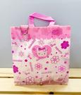 【震撼精品百貨】Hello Kitty_凱蒂貓~Sanrio HELLO KITTY防水收納包/透明手提包-粉花#41709
