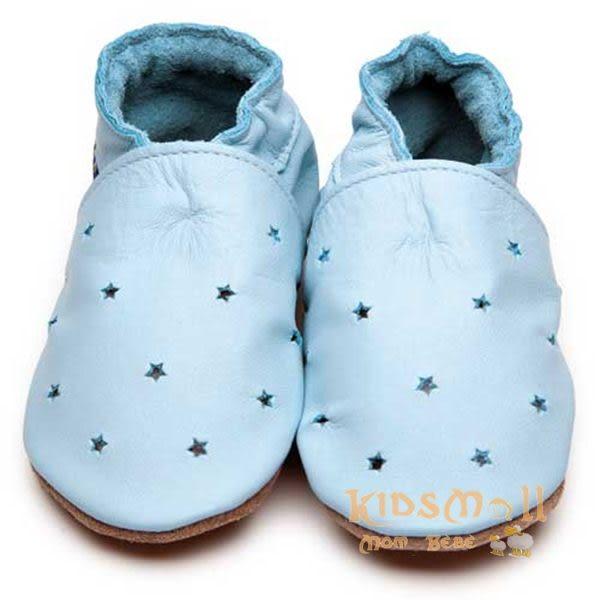 英國製Inch Blue,真皮手工學步鞋禮盒,Milky Way-Baby Blue