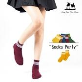 1/2條紋少女棉襪 學生襪 長襪 襪子 條紋襪 休閒襪【CT2066-37】綾羅綢緞