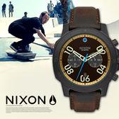 NIXON A940-2209 THE Ranger Chrono Leather 軍事風格 熱賣中!