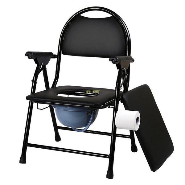 老人坐便椅加厚孕婦坐便椅殘疾病人坐便器座便椅老年折疊座廁椅器 快速出貨