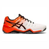 Asics GEL-Resolution 7 [E701Y-100] 男鞋 網球 運動 耐磨 舒適 緩衝 亞瑟士 白橘