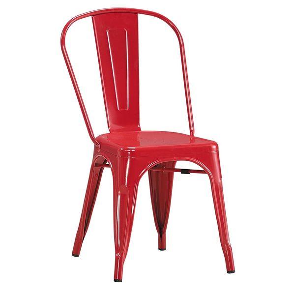 工業風鐵餐椅(紅色)(18CS3/249-18) / H&D東稻家居
