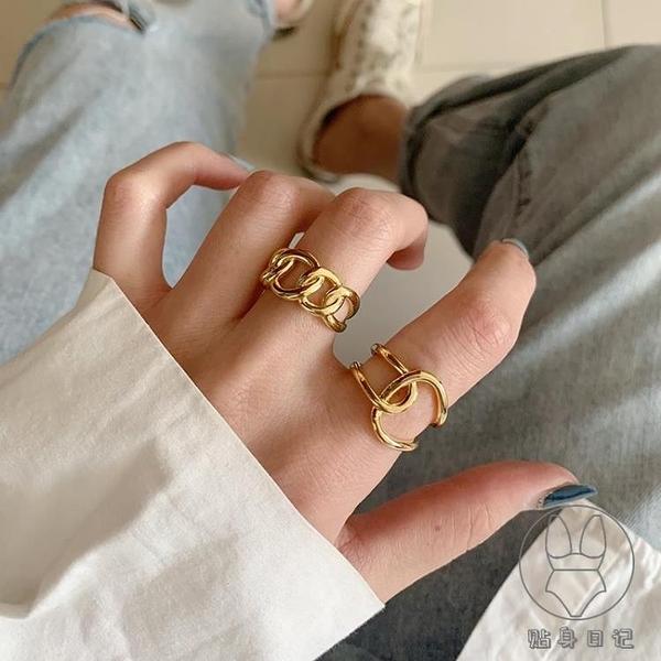 純銀戒指女時尚高級感歐美小眾設計食指【貼身日記】
