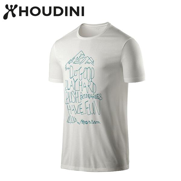 瑞典【Houdini】M`s Big Up Message Tee 雪粉白 237894
