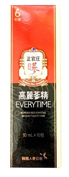 正官庄 高麗蔘精EVERYTIME 10ML*10包/盒◆德瑞健康家◆