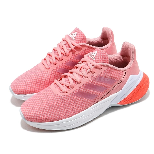 adidas 慢跑鞋 Response SR 粉紅 白 女鞋 舒適緩震 運動鞋 【ACS】 FY9158