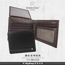 ROBERTA 諾貝達 皮夾 鉚釘系列 8卡窗格 荔枝紋皮革 男夾 短夾 RM-23153 得意時袋