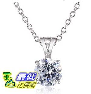 [美國直購] Charles Winston Sterling Silver Cubic Zirconia Pendant Necklace, 18 項鍊