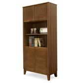 【時尚屋】[NM29]米亞淺胡桃2.7尺四門書櫃NM29-592免運費/免組裝/書櫃