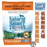 ★台北旺旺★美國NB.Natural Balance.地瓜鮭魚全犬低敏配方【13磅】