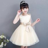 公主裙女童夏季童裝洋氣兒童夏裝洋裝小女孩禮服紗裙春秋款裙子 幸福第一站