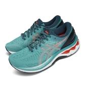Asics 慢跑鞋 Gel-Kayano 27 D Wide 寬楦頭 綠 橘 女鞋 輕量透氣 運動鞋 【ACS】 1012A713300