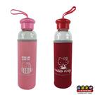 【收藏天地】正版授權*Hello Kitty 附布套玻璃水壺(2款) / 送禮 卡通 可愛 裝飾 禮品 正版