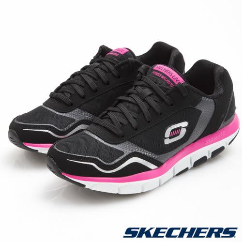 SKECHERS 女鞋 Liv 智慧生活系列 涼感記憶型鞋墊 健走慢跑鞋 -黑x粉57051BKHP