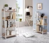 簡約四層置物架書架儲物鋼木書柜落地臥室多層北歐客廳鐵藝收納架子 js8145『小美日記』