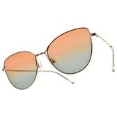 CARIN 太陽眼鏡 NIGHT C1 (玫瑰金-澄藍鏡片) 復古貓眼漸層 墨鏡 β鈦眼鏡 秀智代言 # 金橘眼鏡