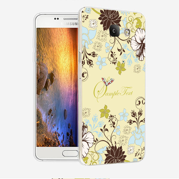 ♥ 俏魔女美人館 ♥ {綠色花朵*立體浮雕水晶硬殼} SAMSUNG GALAXY A7 2016版手機殼 手機套 保護套