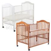 L.A. Baby 加州貝比 米爾頓嬰兒大床/原木床/童床-咖啡色/白色(不含床墊)