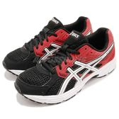 Asics 慢跑鞋 Gel-Contend 3 GS 黑 紅 入門款 舒適緩震 運動鞋 女鞋 大童鞋【PUMP306】 C566N-9001