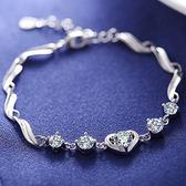 S925手鍊女新款韓國清新時尚銀飾品簡約學生女友生日禮物