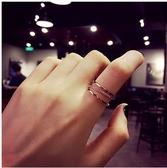 戒指西西婭 開口個性時尚簡約食指戒指女ins潮單身指環韓版網紅冷淡風 春季新品