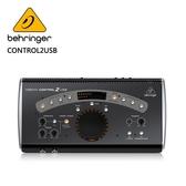 BEHRINGER CONTROL2USB 錄音介面(2個功能強大的耳機放大器,並帶有獨立的音量控制)