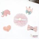 韓系汗毛夾 禮盒五件組 髮量少推薦的兒童髮夾 溫馨小象象 (嬰幼兒/寶寶/小孩/髮飾/頭飾)