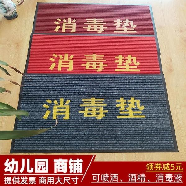 雙條紋消毒地墊門廳防滑腳墊蹭土墊進門地毯歡迎光臨入戶門墊訂製 快速出貨