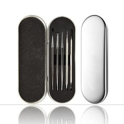 不鏽鋼粉刺夾粉刺針-便攜精美禮盒包裝粉刺夾五件套73pp330[時尚巴黎]