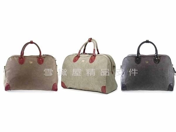 ~雪黛屋~troop英國手工精典帆布行李袋100%英國純棉手提可肩背斜背耐磨耐髒重量 STRP0263(大)