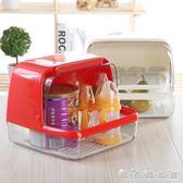 寶寶餐具收納箱母嬰用品翻蓋存放箱奶瓶儲存盒奶嘴碗筷水杯收納盒igo 晴天時尚館