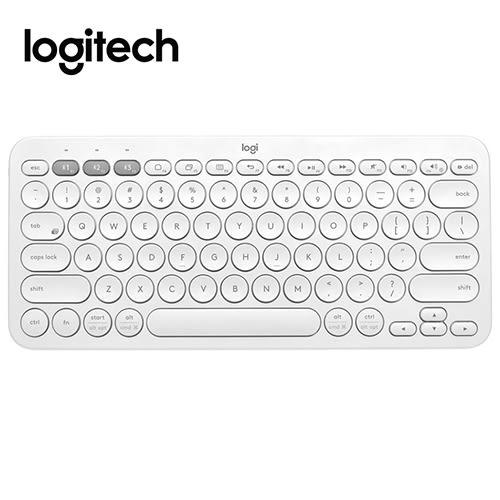 【限時送羊毛氈平板鍵盤套】 Logitech 羅技 K380跨平台藍牙鍵盤 珍珠白