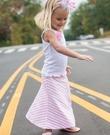 美國RuffleButts Sky Blue Striped Maxi Skirt -粉紅條紋長裙