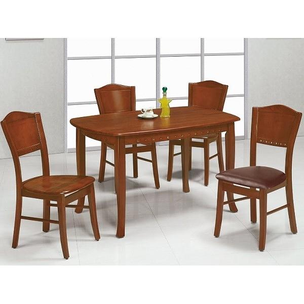 餐桌 AT-824-7 小法式柚木餐桌 (不含椅子) 【大眾家居舘】
