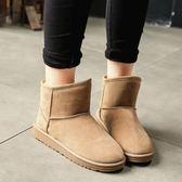 雪地棉鞋女冬 新款雪地靴女短筒韓版百搭學生加絨保暖靴子女潮 免運