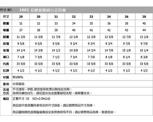 BOBSON 男款低腰貓鬚刷白直筒褲(1802-53)