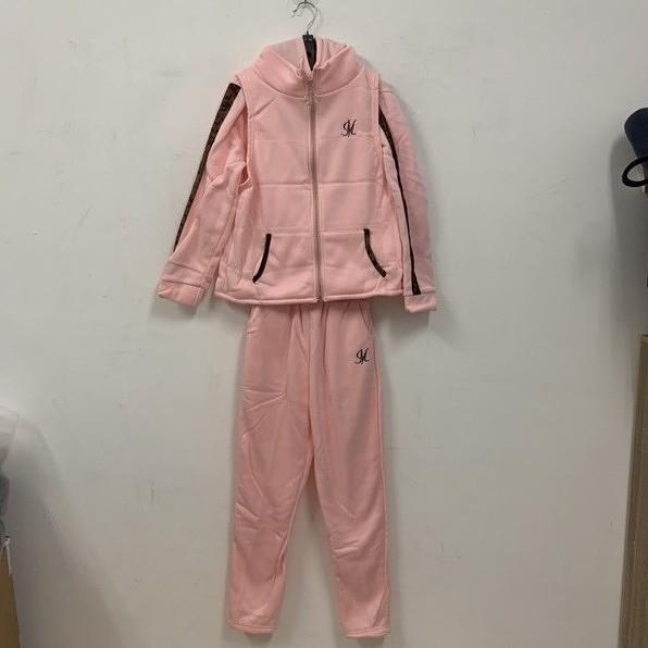 新款時尚加絨休閒長袖T恤背心休閒褲三件式套裝(M-L號/777-7790)