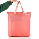 旅行收納袋 防潑水手提袋帆布女肩背簡約大容量袋子摺疊便攜袋買菜包環保購物袋小c推薦