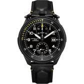 全球限量1999只 Hamilton 漢米爾頓 KHAKI AVIATION 限量飛行員機械腕錶-黑/46mm H76786733