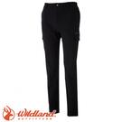 【Wildland 荒野 男款 彈性貼袋保暖休閒長褲《黑》】0A52308/快乾/硬挺耐磨/四向彈性