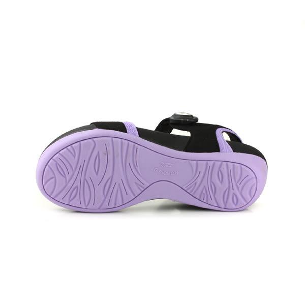 GP (Gold.Pigon) 阿亮代言 涼鞋 女鞋 防水 雨天 黑/粉紫 G8690W-41 no913