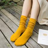 堆堆襪子女春夏款純色棉襪學院風長襪子