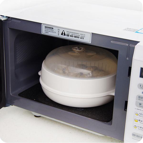 廚房微波爐專用盒大號帶蓋熱飯菜盒蒸餃器微波爐加熱器皿蒸籠蒸盒
