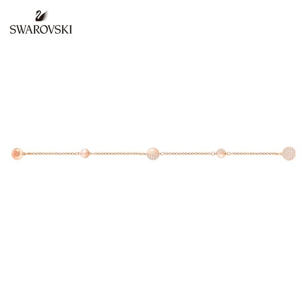 施華洛世奇 Remix Collection Round Shape 閃亮光環鍍玫瑰金色飾鏈
