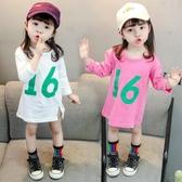 女童長袖T恤裙春秋裝嬰兒童純棉連衣裙女寶寶1-3歲4打底衫韓版潮5Mandyc
