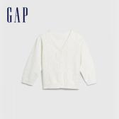 Gap 嬰兒 童趣鏤空動物針織開衫 577918-光感亮白