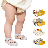 童襪 嬰兒襪 5雙入-春夏韓版冰絲兒童船襪 襪子-JoyBaby